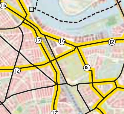 Stadionlaan fietspad ontbrekende schakel in stedelijk fietsroutenetwerk stichting De Bomenridders Rotterdam