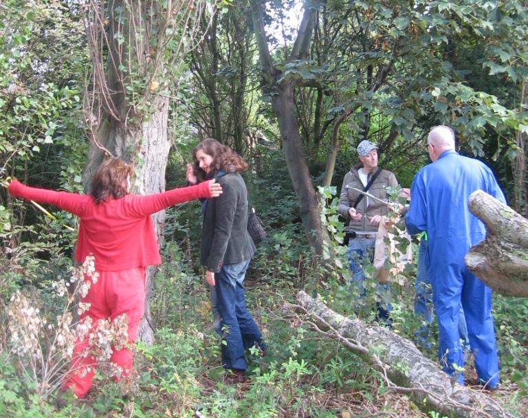 stichting ProGroen inventariseert bomen in groenstrook tussen spoorlijn en RFC-weg stichting De Bomenridders Rotterdam