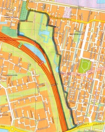 De groenstrook langs de A16, tussen de Groeninx van Zoelenlaan en de Beverwaardseweg, zal flink onder handen worden genomen.