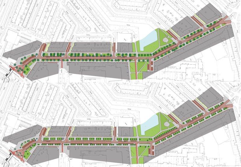Inrichtingsplan Schepenstraat huidige situatie heringerichte straat nieuwe bomen stichting De Bomenridders Rotterdam