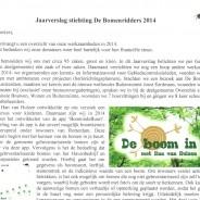 Jaarverslag 2014 beschikbaar