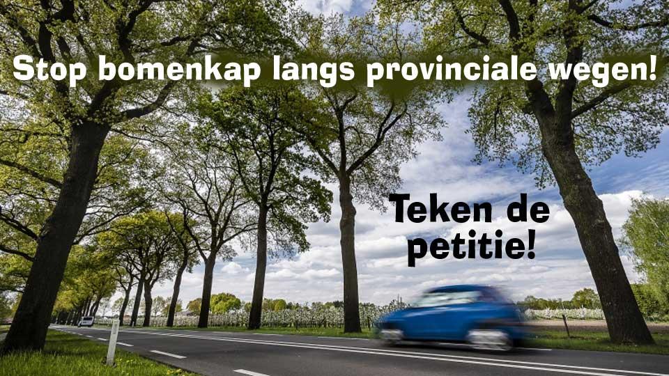 Petitie: STOP bomenkap aan N-wegen