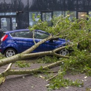 Zomerstorm in Rotterdam